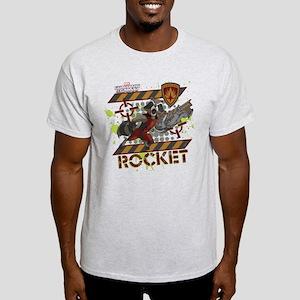 GOTG Rocket Cartoon Danger Light T-Shirt