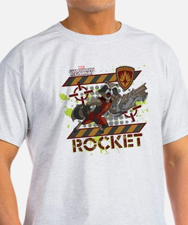 GOTG Rocket Cartoon Danger T-Shirt