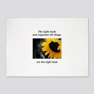 Sunflower Light Leadership Gifts 5'x7'Area Rug