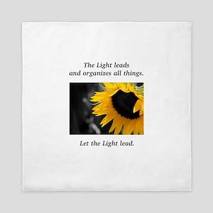 Sunflower Light Leadership Gifts Queen Duvet