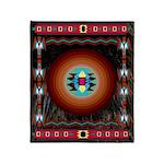 Night Bear Indian Motif Throw Blanket