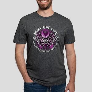 Epilepsy-Butterfly-Tribal-2-blk T-Shirt
