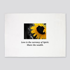 Sunflower Love Wealth Gifts 5'x7'Area Rug