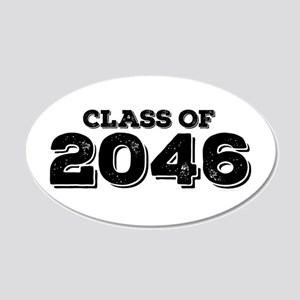 Class of 2046 20x12 Oval Wall Decal