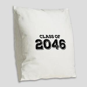 Class of 2046 Burlap Throw Pillow