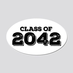 Class of 2042 20x12 Oval Wall Decal