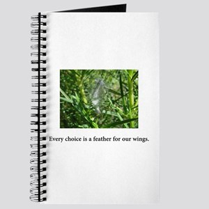 Every Choice Feather Gifts Journal