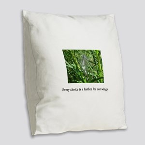 Every Choice Feather Gifts Burlap Throw Pillow