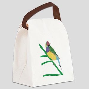 Gouldian Finch Canvas Lunch Bag