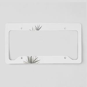 Bamboo License Plate Holder
