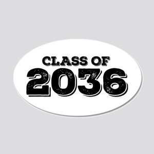 Class of 2036 20x12 Oval Wall Decal