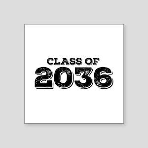 "Class of 2036 Square Sticker 3"" x 3"""