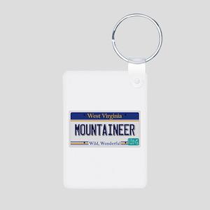 West Virginia - Mountainee Aluminum Photo Keychain