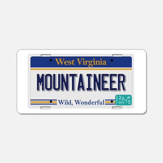 West Virginia - Mountaineer Aluminum License Plate