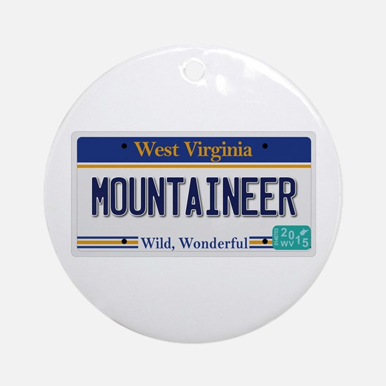 West Virginia - Mountaineer Round Ornament