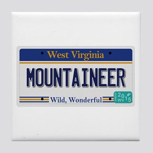 West Virginia - Mountaineer Tile Coaster