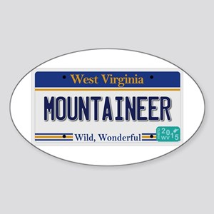 West Virginia - Mountaineer Sticker (Oval)