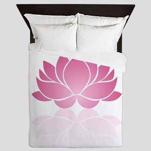 Pink Lotus Queen Duvet