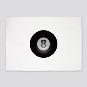 Billiards Eight Ball 5'x7'area Rug