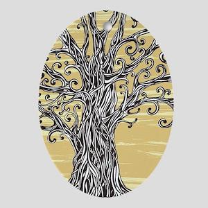 Tree Art Oval Ornament