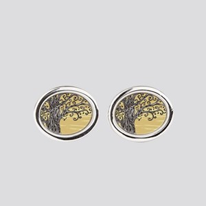 Tree Art Oval Cufflinks