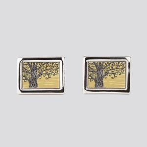 Tree Art Rectangular Cufflinks