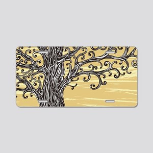 Tree Art Aluminum License Plate