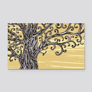Tree Art Rectangle Car Magnet