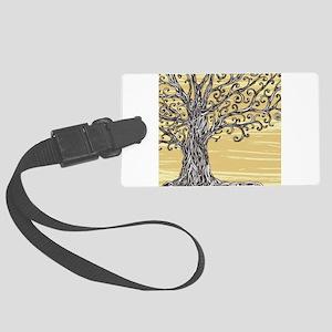 Tree Art Luggage Tag