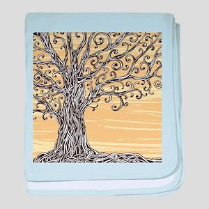 Tree Art baby blanket