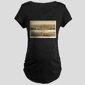 Los Angeles, California 1877 Maternity Dark T-Shir