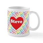 We Love Steve Mugs