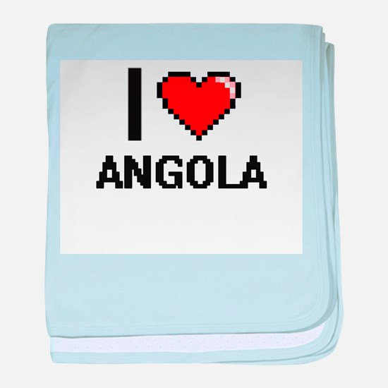 I Love Angola Digital Design baby blanket
