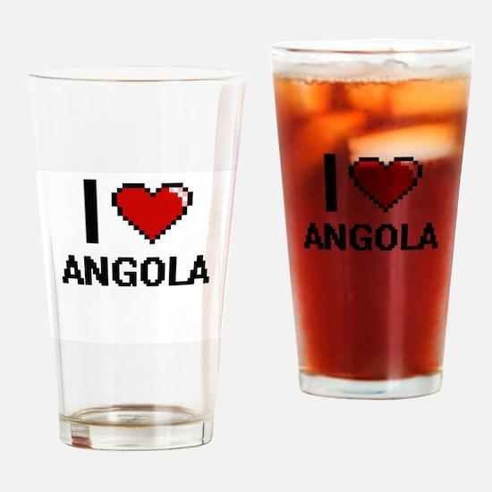 I Love Angola Digital Design Drinking Glass