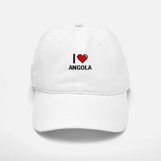 I Love Angola Digital Design Baseball Baseball Cap