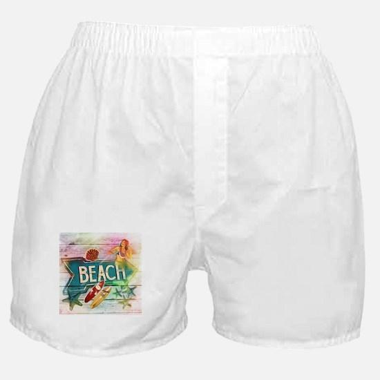 sunrise beach surfer Boxer Shorts