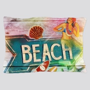 sunrise beach surfer Pillow Case