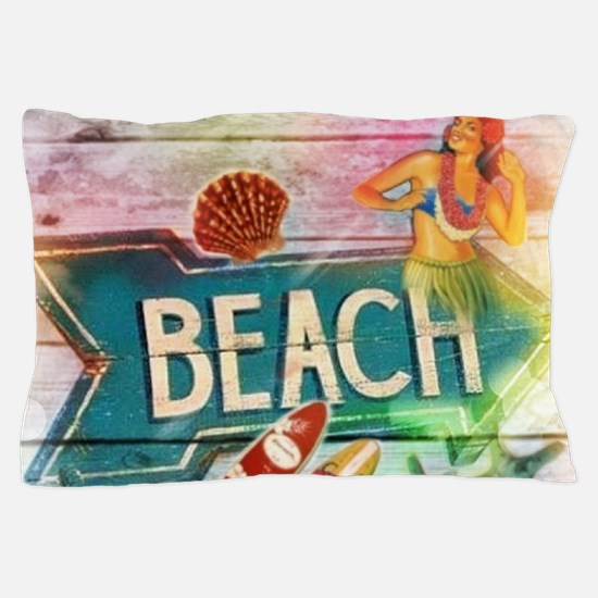 sunrise beach surfer Pillow Case
