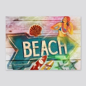 sunrise beach surfer 5'x7'Area Rug