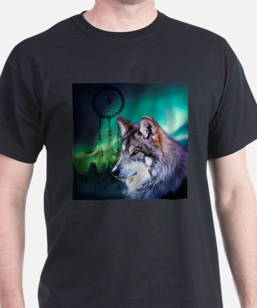 dream catcher northern light wolf T-Shirt
