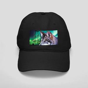 dream catcher northern light wolf Black Cap