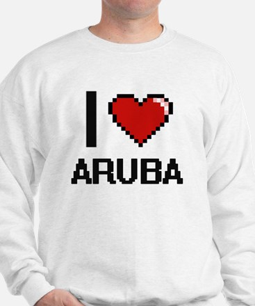 I Love Aruba Digital Design Sweatshirt