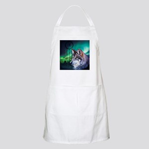 dream catcher northern light wolf Apron