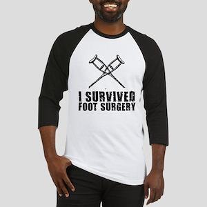 I survived foot surgery Baseball Jersey
