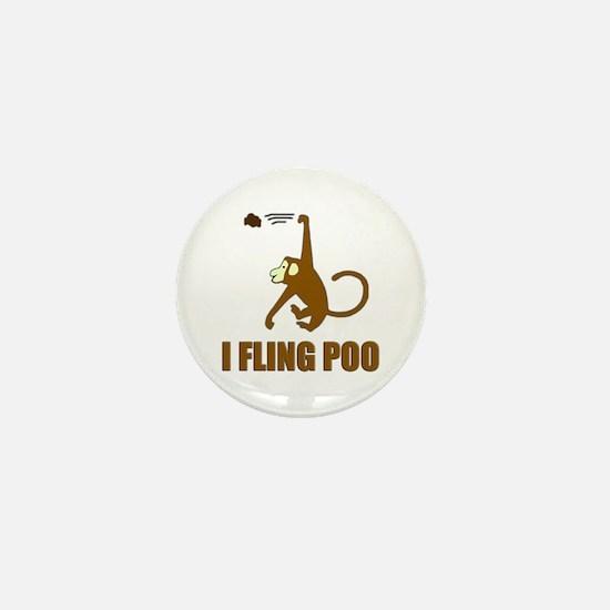 I Fling Poo Mini Button