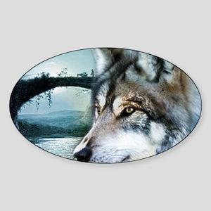 romantic moonlight wild wol Sticker