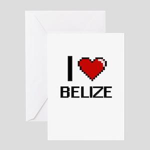 I Love Belize Digital Design Greeting Cards