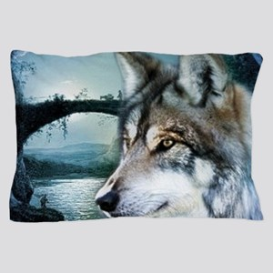 romantic moonlight wild wolf Pillow Case