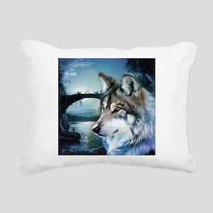 romantic moonlight wild Rectangular Canvas Pillow
