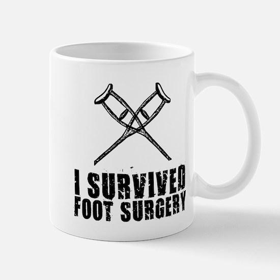 I survived foot surgery Mugs